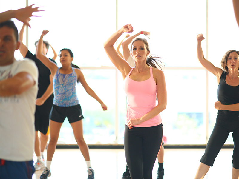 Zumba is a combination of Latin, hip-hop, salsa, and international music that sculpts your body withfun, easy-to-learn dance steps.