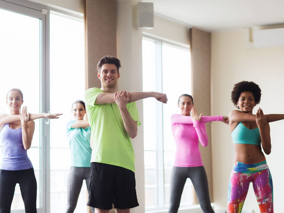 This class is a great combination of high cardio with little impact.