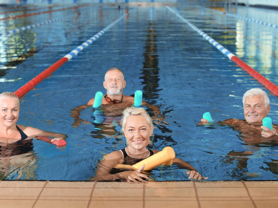 Swimming is a great way to get exercise—no matter your age.