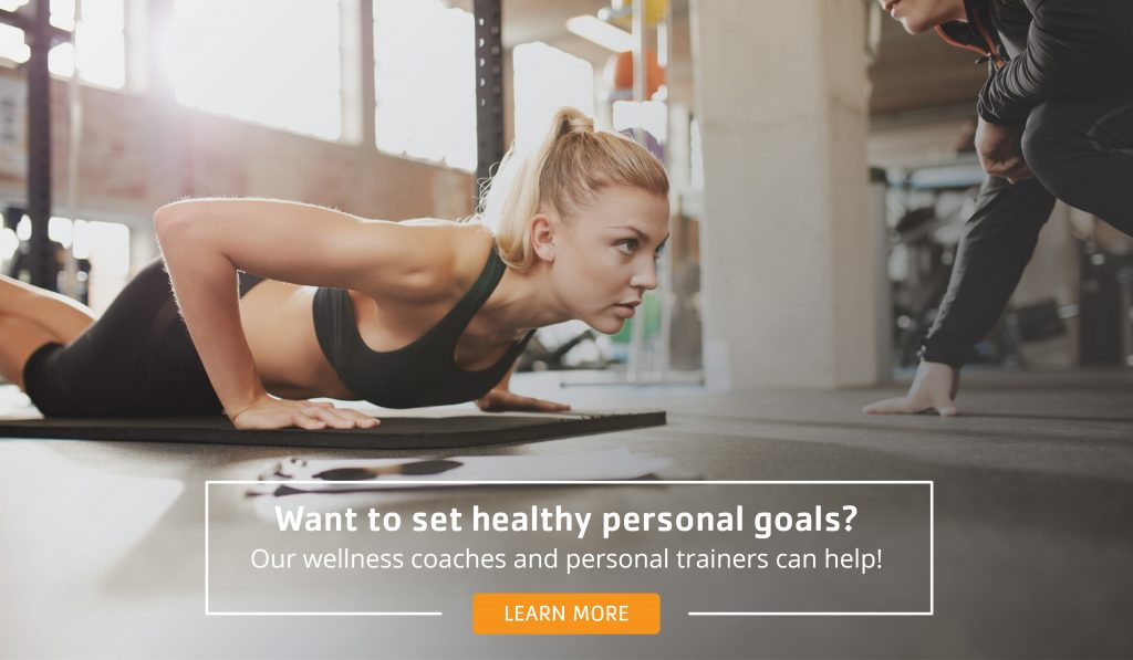 young adult setting personal goals at the Y