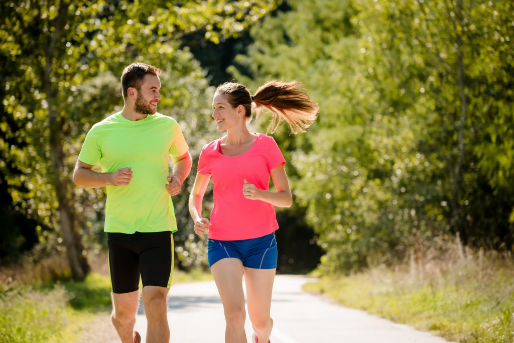 People heeding safety tips for summer workouts.