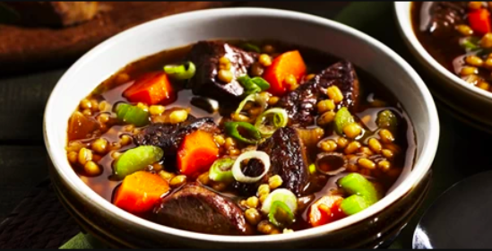 Low-Sodium Hearty Beef & Barley Soup